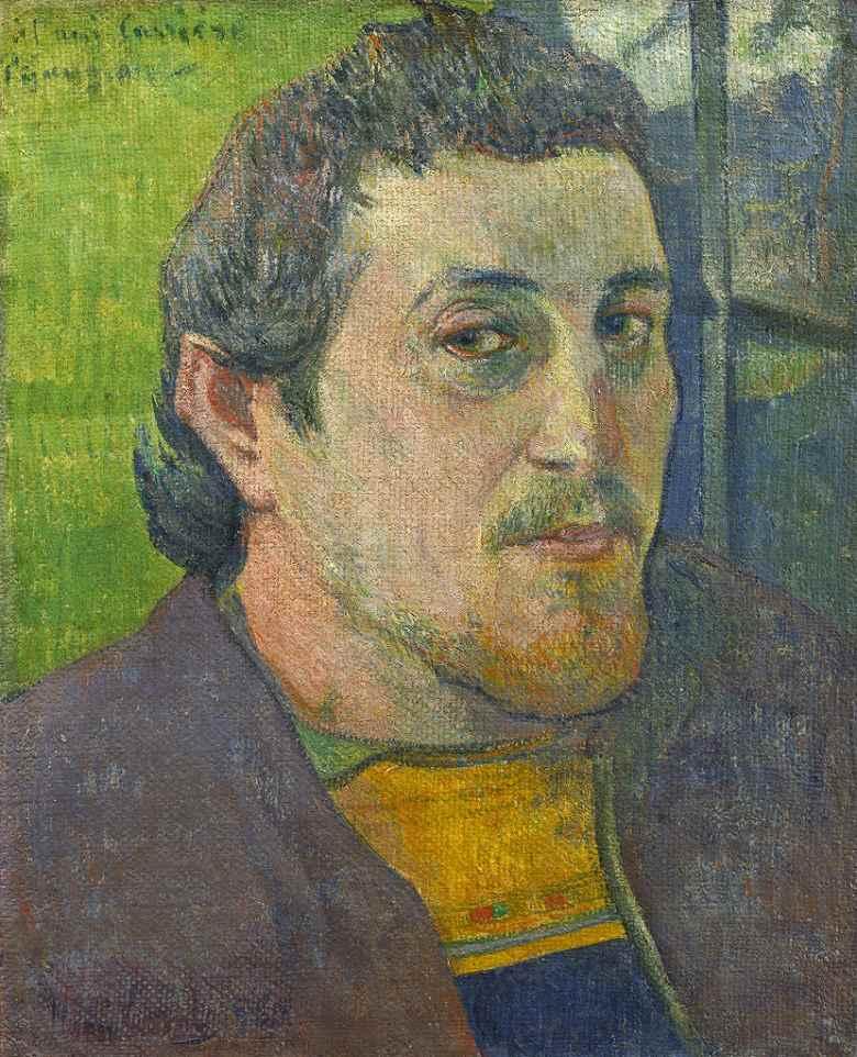 油絵 ポール・ゴーギャン 自画像 F12サイズ F12号 606x500mm 油彩画 絵画 複製画 選べる額縁 選べるサイズ