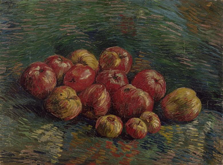 【送料無料】絵画 油彩画複製油絵複製画/ゴッホ リンゴのある静物 P15サイズ 808x656mm 【すぐに飾れる豪華額縁付 キャンバス】