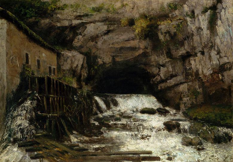 ギュスターヴ・クールベ ルー川の水源 P30サイズ P30号 910x653mm 送料無料 絵画 インテリア 額入り 壁掛け複製油絵ギュスターヴ・クールベ