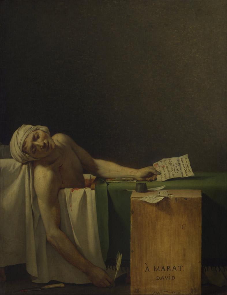 【送料無料】絵画 油彩画複製油絵複製画/ジャック=ルイ・ダヴィッド マラーの死 F30サイズ 910x727mm 【すぐに飾れる豪華額縁付 キャンバス】