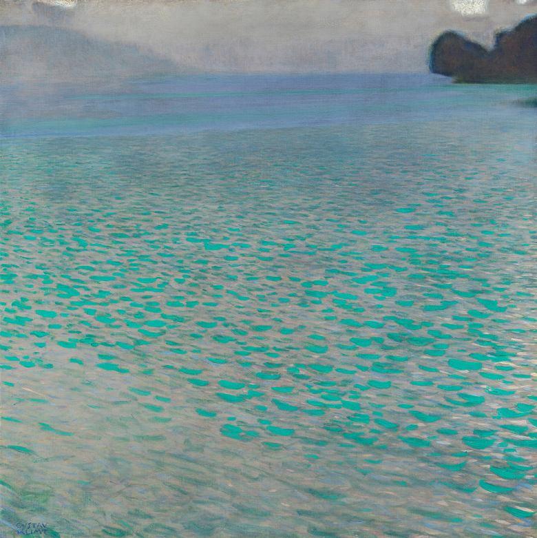 油絵 グスタフ・クリムト アッター湖 F12サイズ F12号 606x500mm 油彩画 絵画 複製画 選べる額縁 選べるサイズ