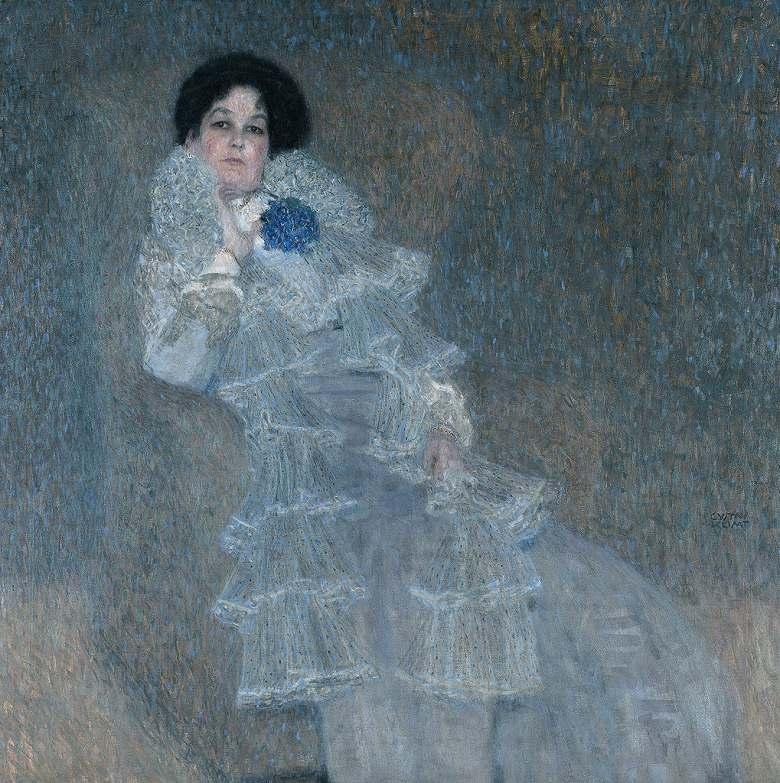 絵画 インテリア 額入り 壁掛け複製油絵グスタフ・クリムト マリー・ヘンネベルクの肖像 F20サイズ F20号 727x606mm 絵画 インテリア 額入り 壁掛け 油絵
