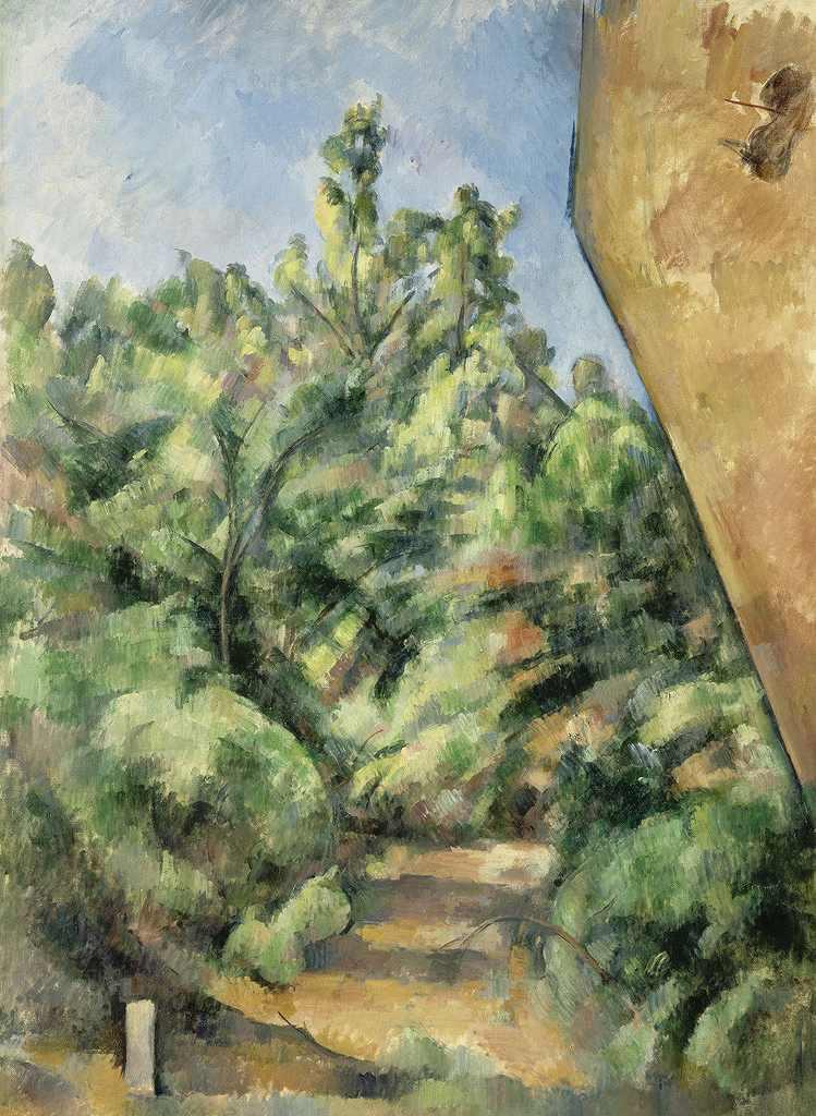油絵 油彩画 絵画 複製画 ポール・セザンヌ 赤い岩 P10サイズ P10号 530x410mm すぐに飾れる豪華額縁付きキャンバス