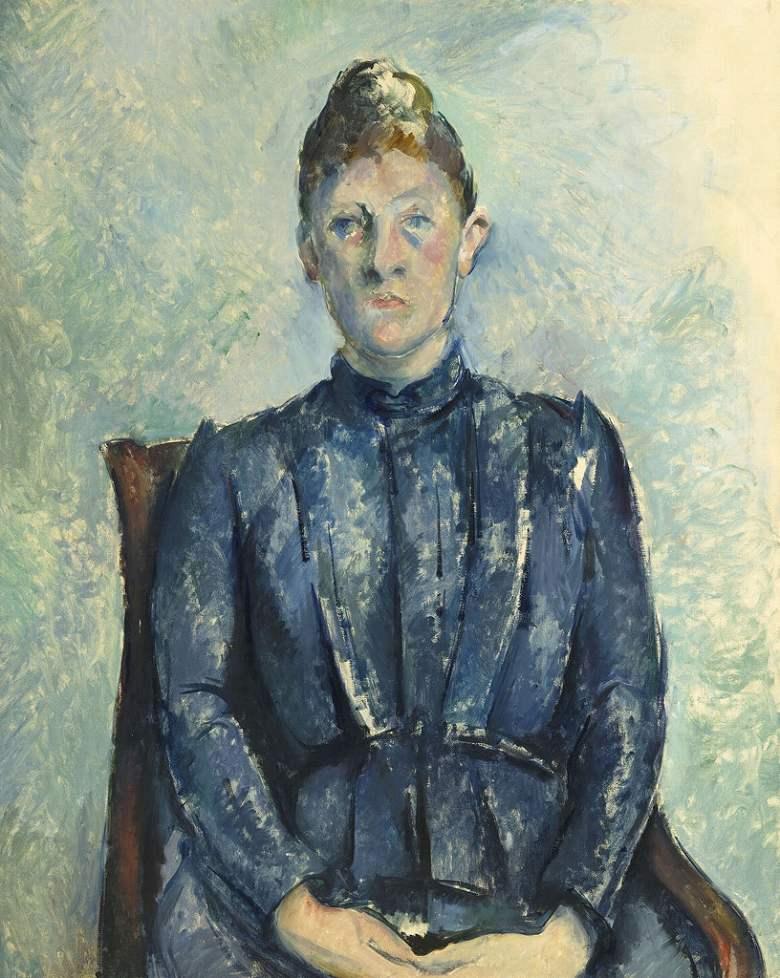 絵画 インテリア 額入り 壁掛け複製油絵 ポール・セザンヌ セザンヌ夫人の肖像 F15サイズ F15号 652x530mm 油彩画 複製画 選べる額縁 選べるサイズ