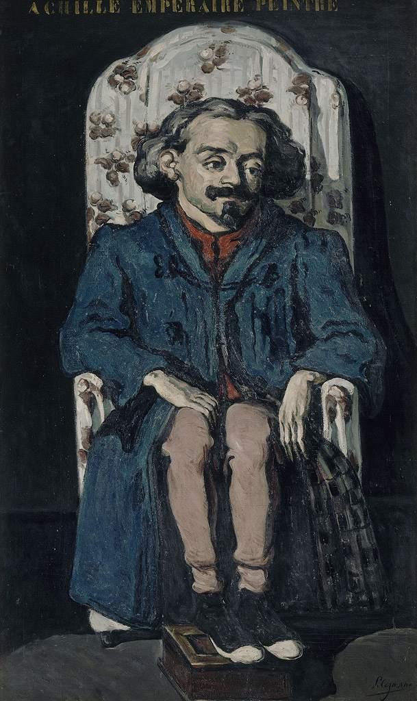 絵画 インテリア 額入り 壁掛け複製油絵 ポール・セザンヌ 画家アシル・アンプレールの肖像 F15サイズ F15号 652x530mm 油彩画 複製画 選べる額縁 選べるサイズ