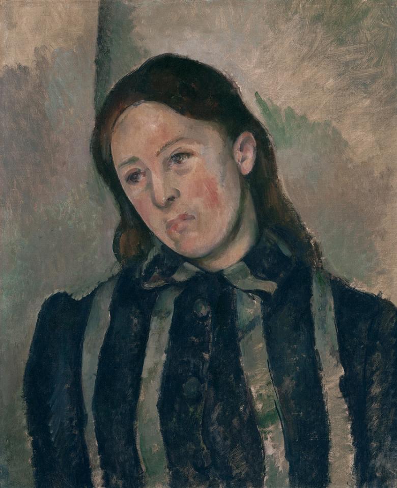絵画 インテリア 額入り 壁掛け複製油絵 ポール・セザンヌ セザンヌ夫人の肖像 F20サイズ F20号 727x606mm 絵画 インテリア 額入り 壁掛け 油絵