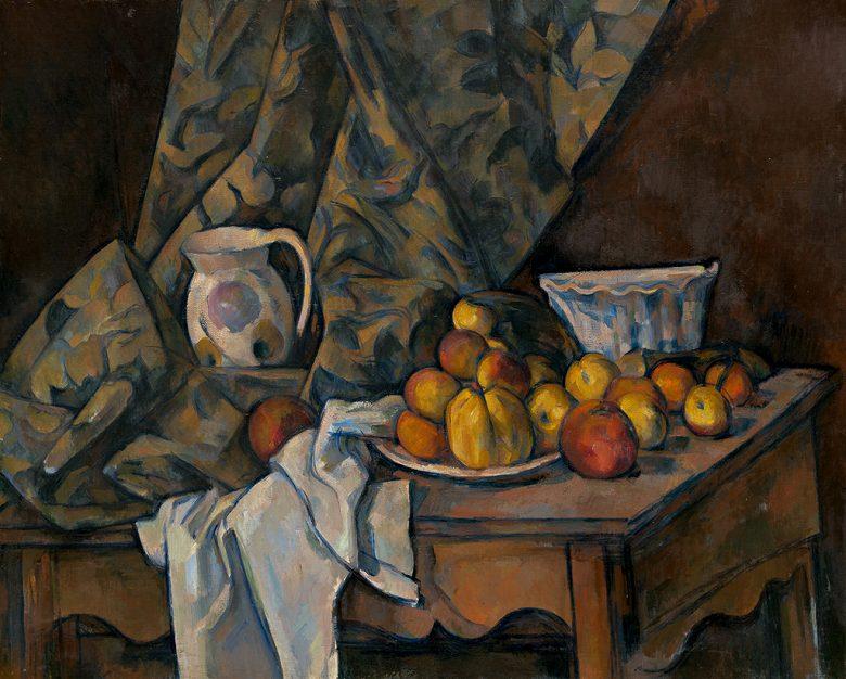 絵画 インテリア 額入り 壁掛け複製油絵 ポール・セザンヌ リンゴと桃のある静物 F15サイズ F15号 652x530mm 油彩画 複製画 選べる額縁 選べるサイズ