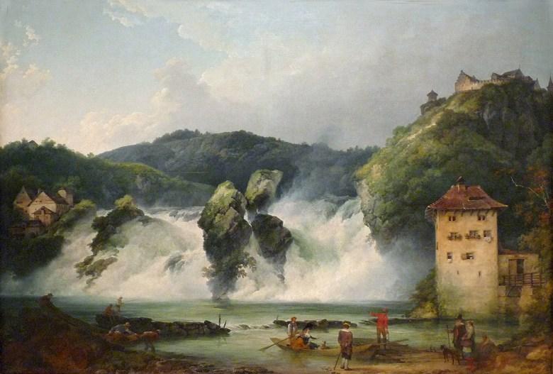 フィリップ・ジェイムズ・ド・ラウザーバーグ シャフハウゼンでのライン川の滝 P30サイズ P30号 910x653mm 条件付き送料無料 絵画 インテリア 額入り 壁掛け複製油絵フィリップ・ジェイムズ・ド・ラウザーバーグ