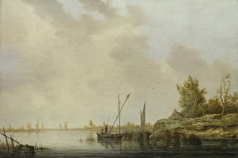 絵画 インテリア 額入り 壁掛け複製油絵アルベルト・カイプ 遠方の風車と川の風景 M15サイズ M15号 652x455mm 油彩画 複製画 選べる額縁 選べるサイズ
