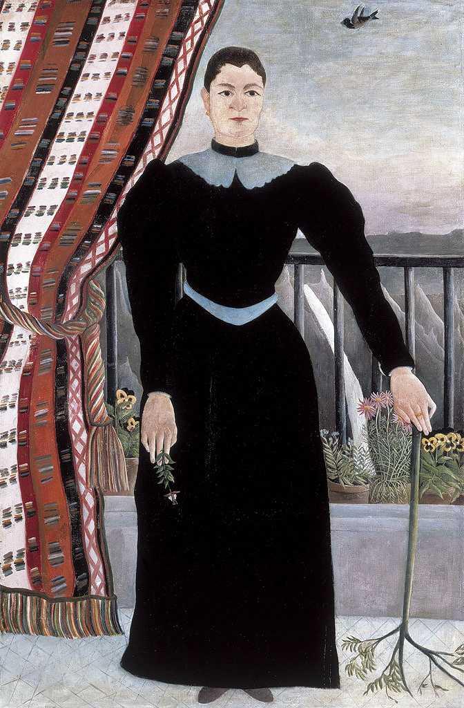 絵画 インテリア 額入り 壁掛け複製油絵アンリ・ルソー 女性の肖像 M15サイズ M15号 652x455mm 油彩画 複製画 選べる額縁 選べるサイズ
