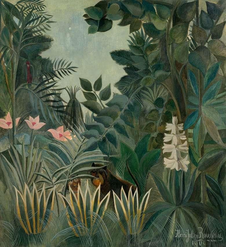 アンリ・ルソー 赤道上のジャングル F30サイズ F30号 910x727mm 送料無料  額縁付絵画 インテリア 額入り 壁掛け複製油絵アンリ・ルソー