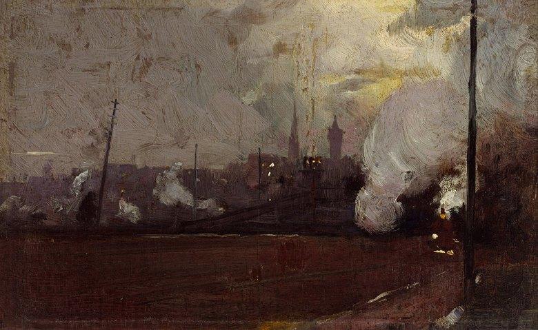 トム・ロバーツ 夕方の列車 M30サイズ M30号 910x606mm 条件付き送料無料 絵画 インテリア 額入り 壁掛け複製油絵トム・ロバーツ