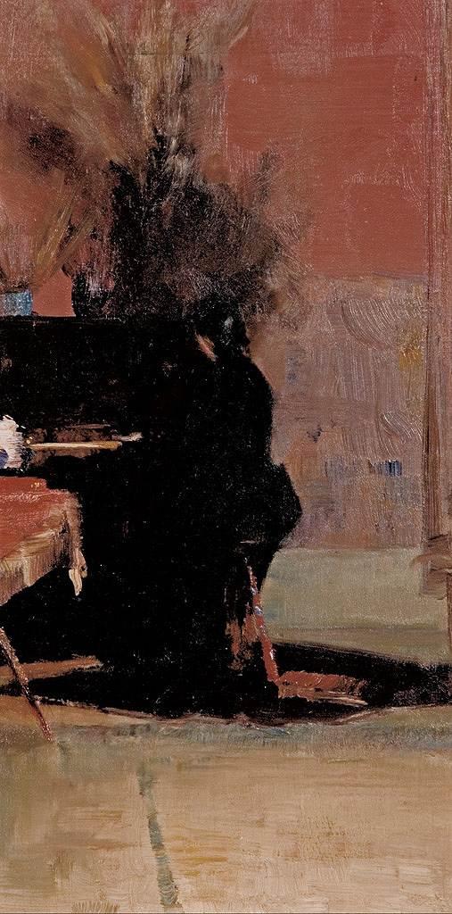 【送料無料】絵画 油彩画複製油絵複製画/トム・ロバーツ アンダンテ F8サイズ F8号 455x380mm すぐに飾れる豪華額縁付きキャンバス