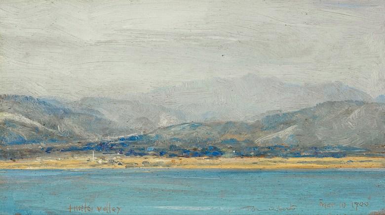 油絵 油彩画 絵画 複製画 トム・ロバーツ ハットバレー F10サイズ F10号 530x455mm すぐに飾れる豪華額縁付きキャンバス