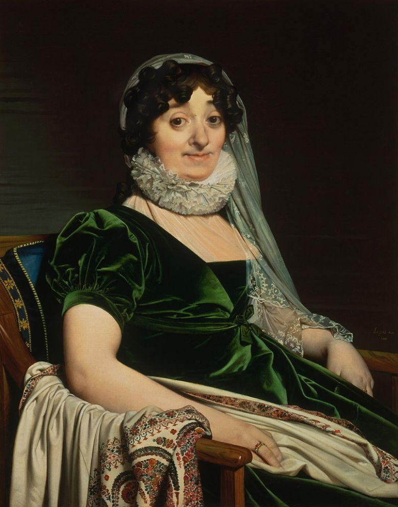 ドミニク・アングル トゥールノン伯爵夫人の肖像 F30サイズ F30号 910x727mm 条件付き送料無料  額縁付絵画 インテリア 額入り 壁掛け複製油絵ドミニク・アングル