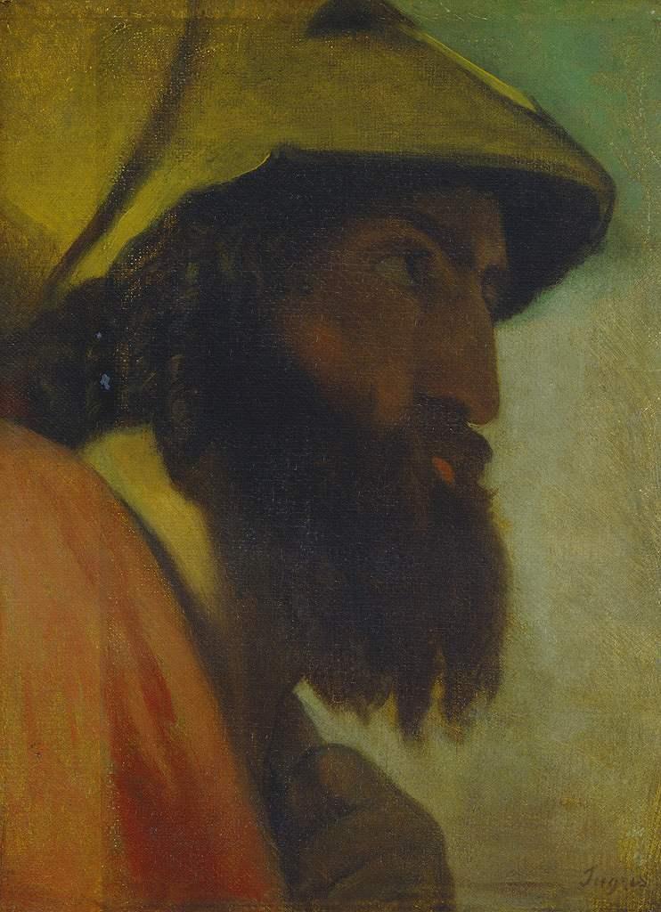 絵画 インテリア 額入り 壁掛け複製油絵ドミニク・アングル オデュッセウス P15サイズ P15号 652x500mm 油彩画 複製画 選べる額縁 選べるサイズ