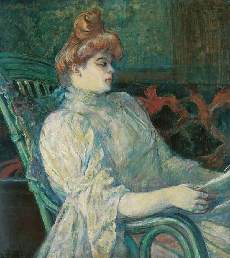 油絵 油彩画 絵画 複製画 アンリ・ド・トゥールーズ=ロートレック マルトX夫人-ボルドー F10サイズ F10号 530x455mm すぐに飾れる豪華額縁付きキャンバス