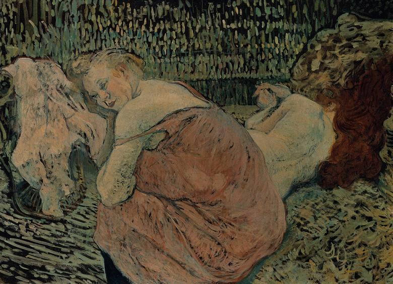 油絵 油彩画 絵画 複製画 アンリ・ド・トゥールーズ=ロートレック 二人の女ともだち P10サイズ P10号 530x410mm すぐに飾れる豪華額縁付きキャンバス