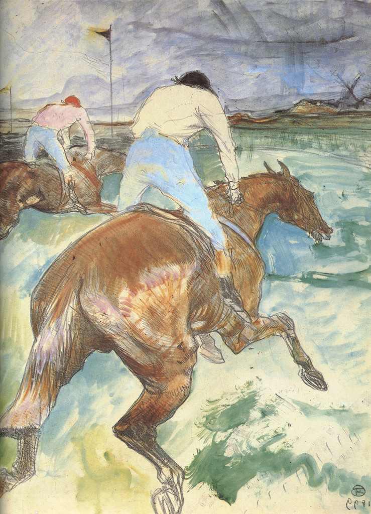 絵画 インテリア 額入り 壁掛け複製油絵アンリ・ド・トゥールーズ=ロートレック 競馬騎手 P15サイズ P15号 652x500mm 油彩画 複製画 選べる額縁 選べるサイズ