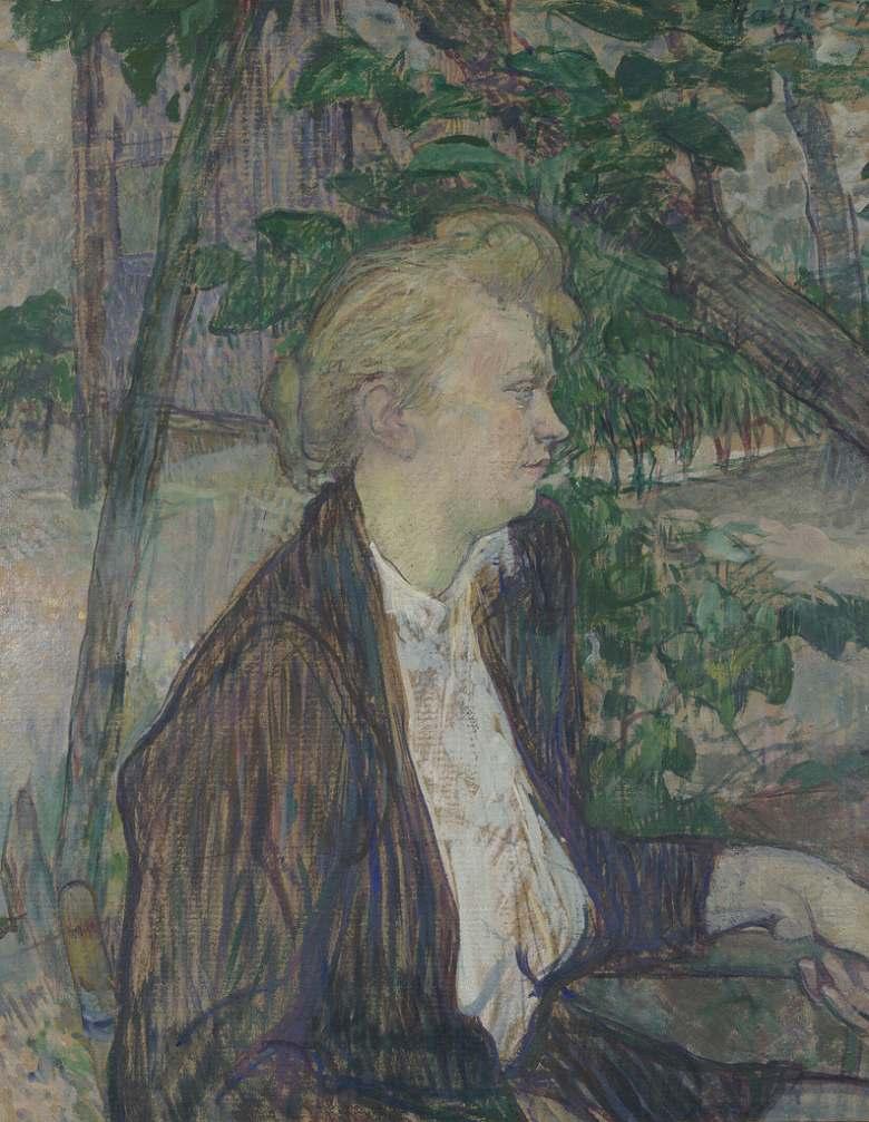 絵画 インテリア 額入り 壁掛け複製油絵アンリ・ド・トゥールーズ=ロートレック 庭に座る女性 F15サイズ F15号 652x530mm 油彩画 複製画 選べる額縁 選べるサイズ
