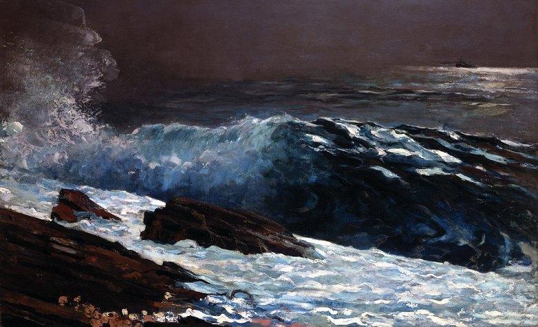 ウィンスロー・ホーマー 海岸の日光 M30サイズ M30号 910x606mm 条件付き送料無料 絵画 インテリア 額入り 壁掛け複製油絵ウィンスロー・ホーマー