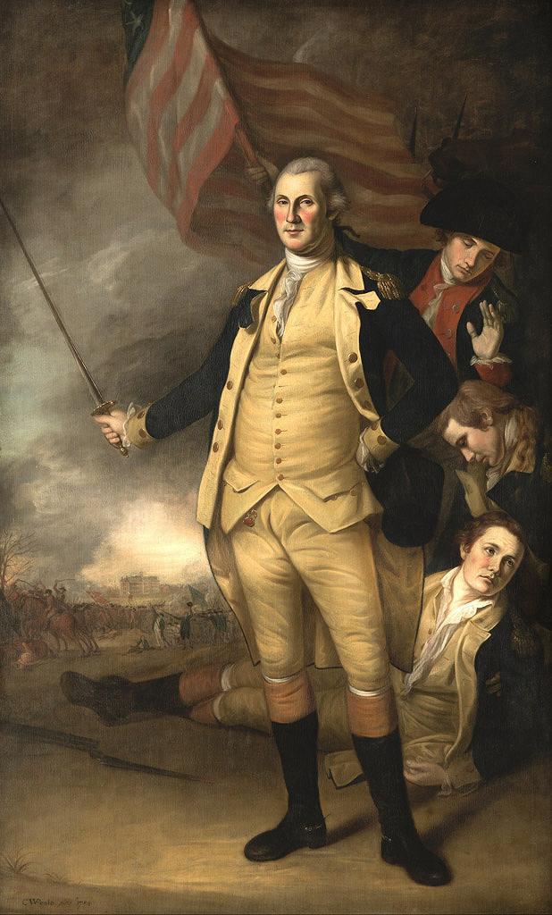 絵画 インテリア 額入り 壁掛け複製油絵チャールズ・ウィルソン・ピール プリンストンの戦いでのジョージ・ワシントン M15サイズ M15号 652x455mm 油彩画 複製画 選べる額縁 選べるサイズ