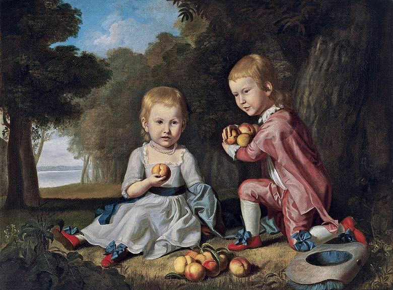 チャールズ・ウィルソン・ピール スチュワート家の子供たち P30サイズ P30号 910x653mm 条件付き送料無料 絵画 インテリア 額入り 壁掛け複製油絵チャールズ・ウィルソン・ピール