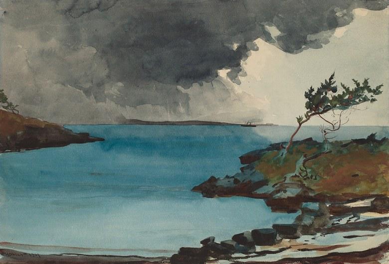 絵画 インテリア 額入り 壁掛け複製油絵ウィンスロー・ホーマー 嵐の到来 P15サイズ P15号 652x500mm 油彩画 複製画 選べる額縁 選べるサイズ