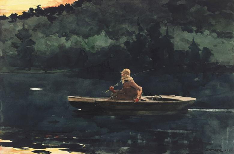 絵画 インテリア 額入り 壁掛け複製油絵ウィンスロー・ホーマー 日の出 M15サイズ M15号 652x455mm 油彩画 複製画 選べる額縁 選べるサイズ