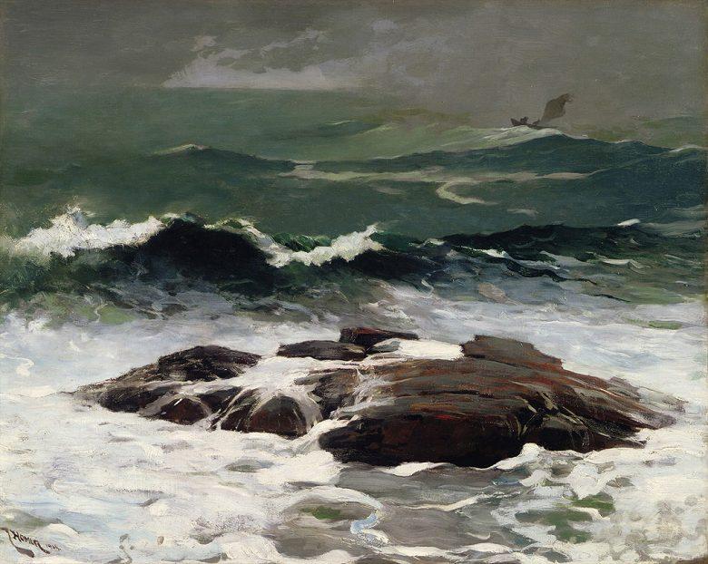 油絵 油彩画 絵画 複製画 ウィンスロー・ホーマー 夏のスコール F10サイズ F10号 530x455mm すぐに飾れる豪華額縁付きキャンバス