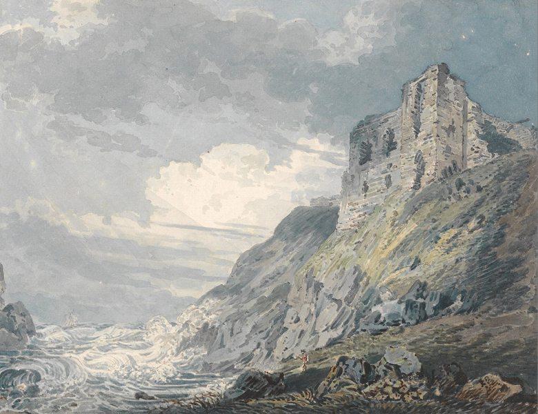 油絵 油彩画 絵画 複製画 トーマス・ガーティン フィンドレーター城 F10サイズ F10号 530x455mm すぐに飾れる豪華額縁付きキャンバス