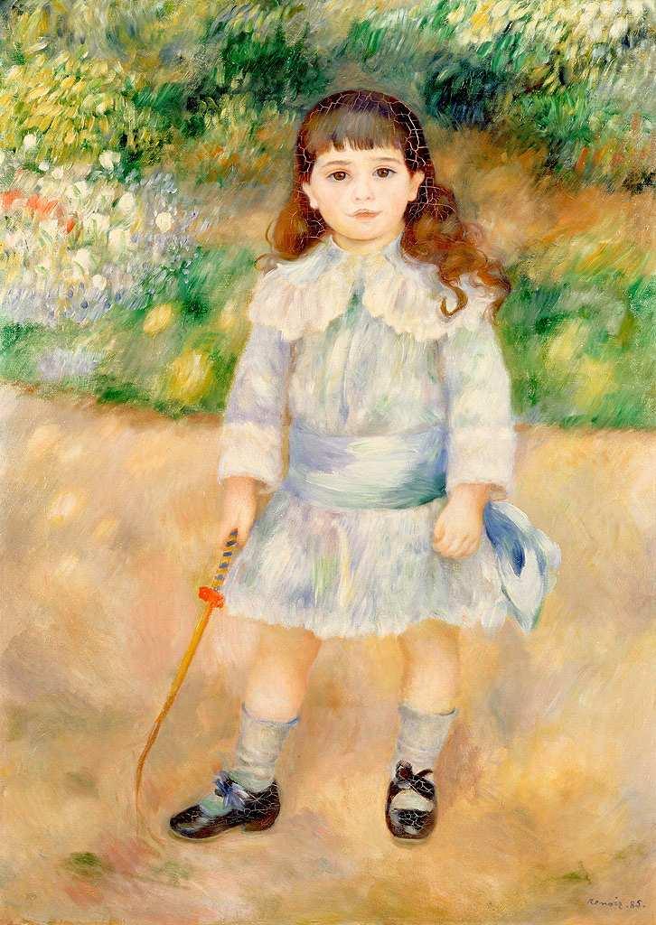 絵画 インテリア 額入り 壁掛け複製油絵ピエール=オーギュスト・ルノワール 鞭を持つ少年 P15サイズ P15号 652x500mm 油彩画 複製画 選べる額縁 選べるサイズ