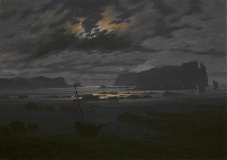 カスパー・ダーヴィト・フリードリヒ 月明かりの北海 P30サイズ P30号 910x653mm 条件付き送料無料 絵画 インテリア 額入り 壁掛け複製油絵カスパー・ダーヴィト・フリードリヒ