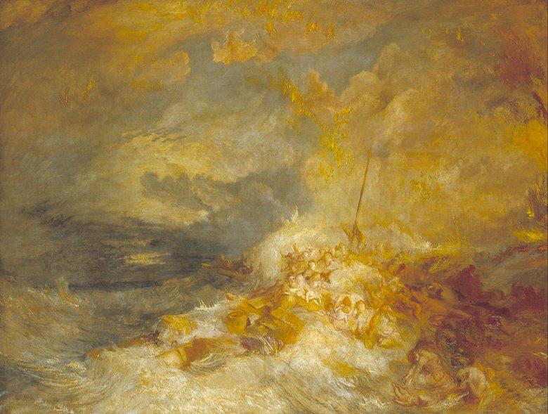 ジョゼフ・マロード・ウィリアム・ターナー 海上災害 P30サイズ P30号 910x653mm 条件付き送料無料 絵画 インテリア 額入り 壁掛け複製油絵ジョゼフ・マロード・ウィリアム・ターナー