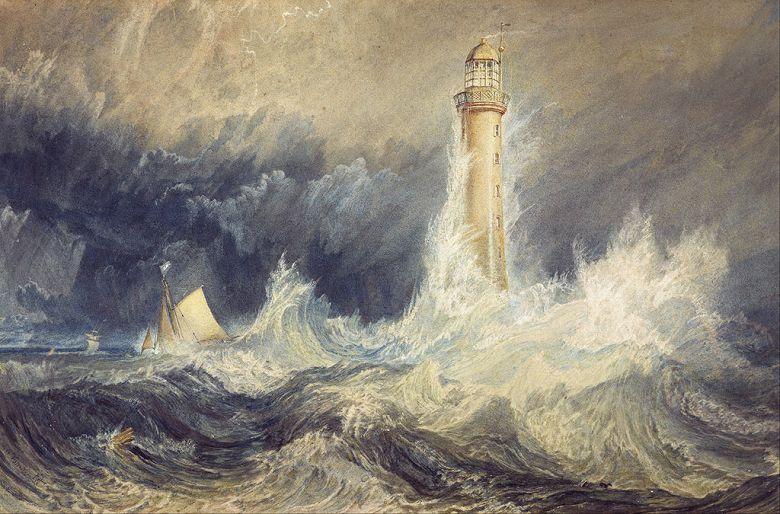 ジョゼフ・マロード・ウィリアム・ターナー ベルロック灯台 M30サイズ M30号 910x606mm 条件付き送料無料 絵画 インテリア 額入り 壁掛け複製油絵ジョゼフ・マロード・ウィリアム・ターナー