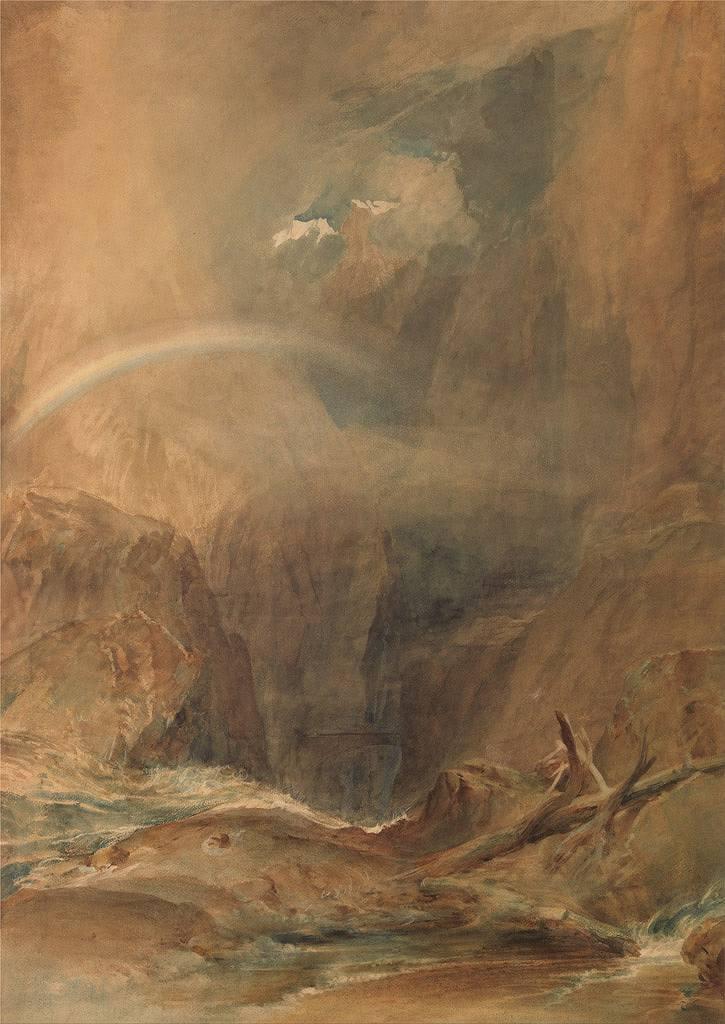 絵画 インテリア 額入り 壁掛け複製油絵ジョゼフ・マロード・ウィリアム・ターナー ゴッタルド峠の悪魔の橋 P15サイズ P15号 652x500mm 油彩画 複製画 選べる額縁 選べるサイズ