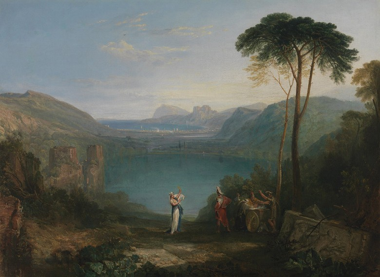 絵画 インテリア 額入り 壁掛け複製油絵ジョゼフ・マロード・ウィリアム・ターナー アヴェルヌス湖(アイネイアースとクーマイの巫女) P20サイズ P20号 727x530mm 絵画 インテリア 額入り 壁掛け 油絵