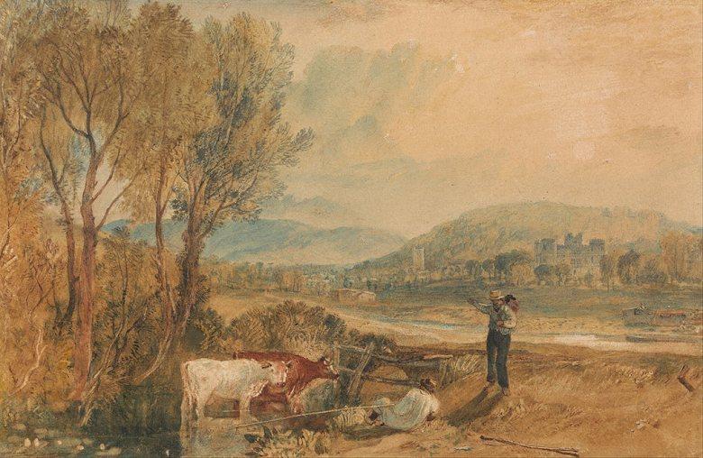 ジョゼフ・マロード・ウィリアム・ターナー ドーセット州のルゥワース城 M30サイズ M30号 910x606mm 条件付き送料無料 絵画 インテリア 額入り 壁掛け複製油絵ジョゼフ・マロード・ウィリアム・ターナー