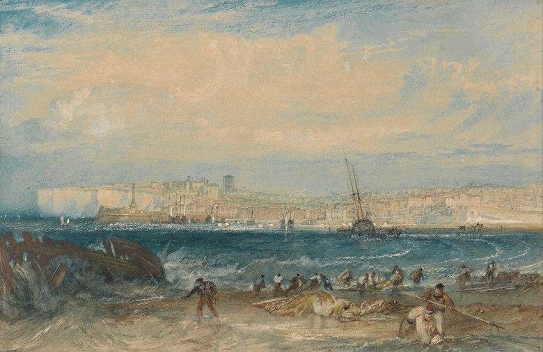 油絵 油彩画 絵画 複製画 ジョゼフ・マロード・ウィリアム・ターナー マーゲート M10サイズ M10号 530x333mm すぐに飾れる豪華額縁付きキャンバス