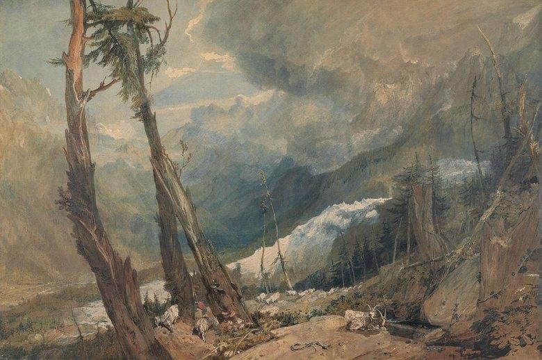 油絵 油彩画 絵画 複製画 ジョゼフ・マロード・ウィリアム・ターナー メール・ド・グラース氷河 M10サイズ M10号 530x333mm すぐに飾れる豪華額縁付きキャンバス