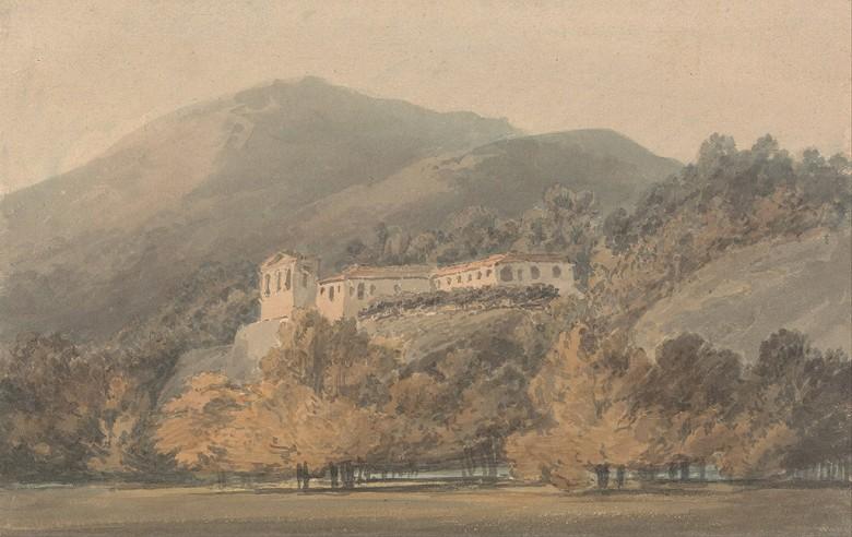 油絵 油彩画 絵画 複製画 ジョゼフ・マロード・ウィリアム・ターナー サンタ・ルチア、カゼルタ近郊の修道院 M10サイズ M10号 530x333mm すぐに飾れる豪華額縁付きキャンバス