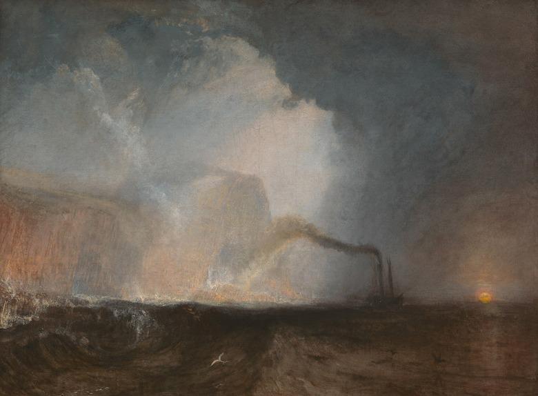 絵画 インテリア 額入り 壁掛け複製油絵ジョゼフ・マロード・ウィリアム・ターナー スタファ島のフィンガルの洞窟 P20サイズ P20号 727x530mm 絵画 インテリア 額入り 壁掛け 油絵