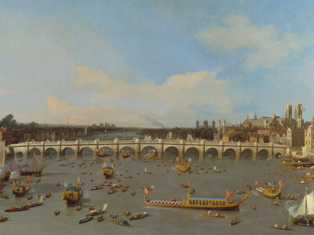 条件付き送料無料 絵画 油彩画複製油絵複製画 カナレット ウェストミンスター橋、ロンドン市長就任日に北から望む F30サイズ2IeWDYEbH9