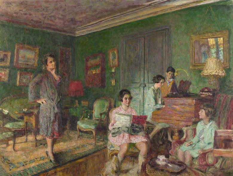絵画 インテリア 額入り 壁掛け複製油絵エドゥアール・ヴュイヤール アンドレ・ヴォルムゼル夫人と子供 P20サイズ P20号 727x530mm 絵画 インテリア 額入り 壁掛け 油絵
