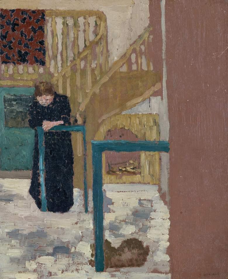 絵画 インテリア 額入り 壁掛け複製油絵エドゥアール・ヴュイヤール アトリエにいるヴュイヤール夫人 F15サイズ F15号 652x530mm 油彩画 複製画 選べる額縁 選べるサイズ