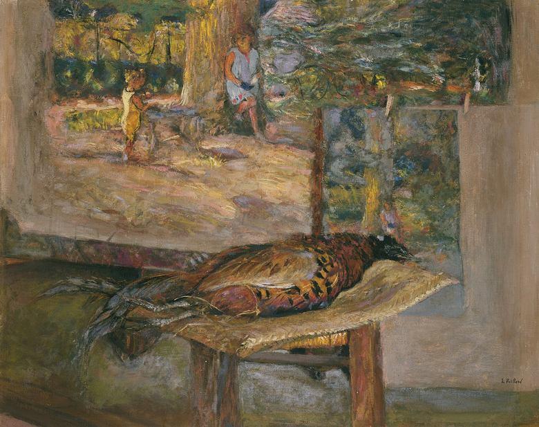 絵画 インテリア 額入り 壁掛け複製油絵エドゥアール・ヴュイヤール 絵画と孔雀 F15サイズ F15号 652x530mm 油彩画 複製画 選べる額縁 選べるサイズ