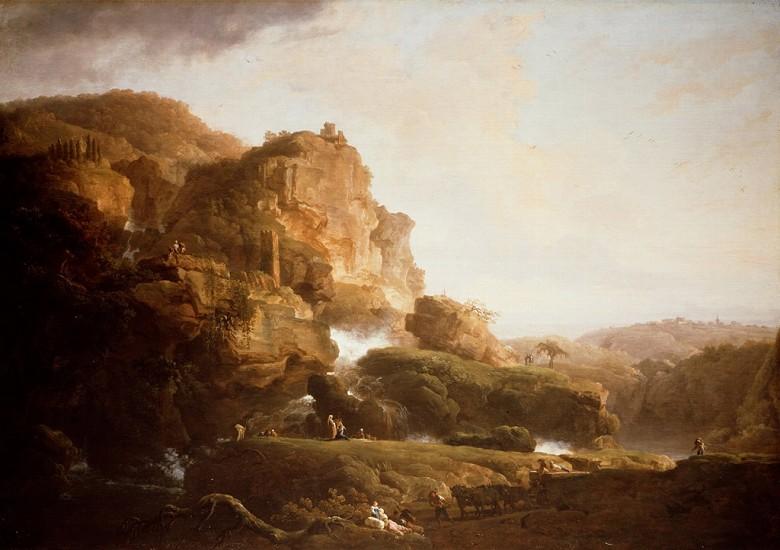 油絵 油彩画 絵画 複製画 クロード・ジョセフ・ヴェルネ イタリアの風景 P10サイズ P10号 530x410mm すぐに飾れる豪華額縁付きキャンバス