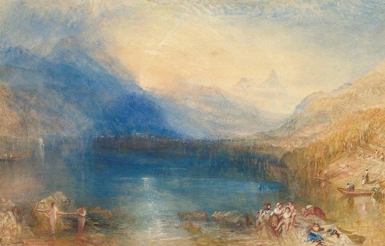 ジョゼフ・マロード・ウィリアム・ターナー ツーク湖 M30サイズ M30号 910x606mm 条件付き送料無料 絵画 インテリア 額入り 壁掛け複製油絵ジョゼフ・マロード・ウィリアム・ターナー