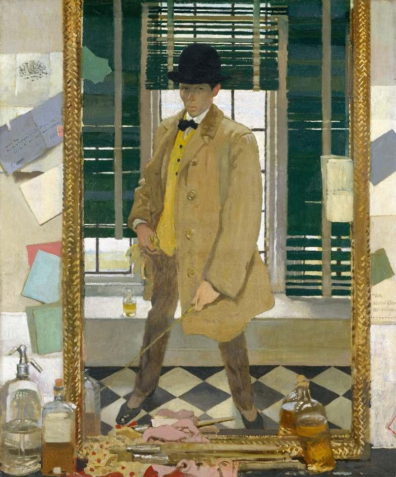 絵画 インテリア 額入り 壁掛け複製油絵ウィリアム・オーペン 自画像 F20サイズ F20号 727x606mm 絵画 インテリア 額入り 壁掛け 油絵