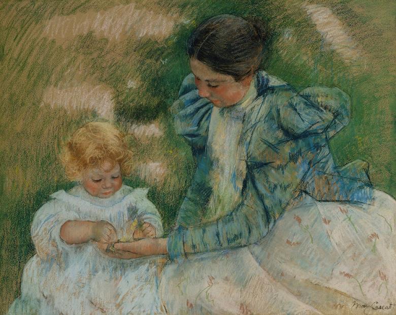 メアリー・カサット 子供と遊ぶ母親 F30サイズ F30号 910x727mm 条件付き送料無料  額縁付絵画 インテリア 額入り 壁掛け複製油絵 メアリー・カサット